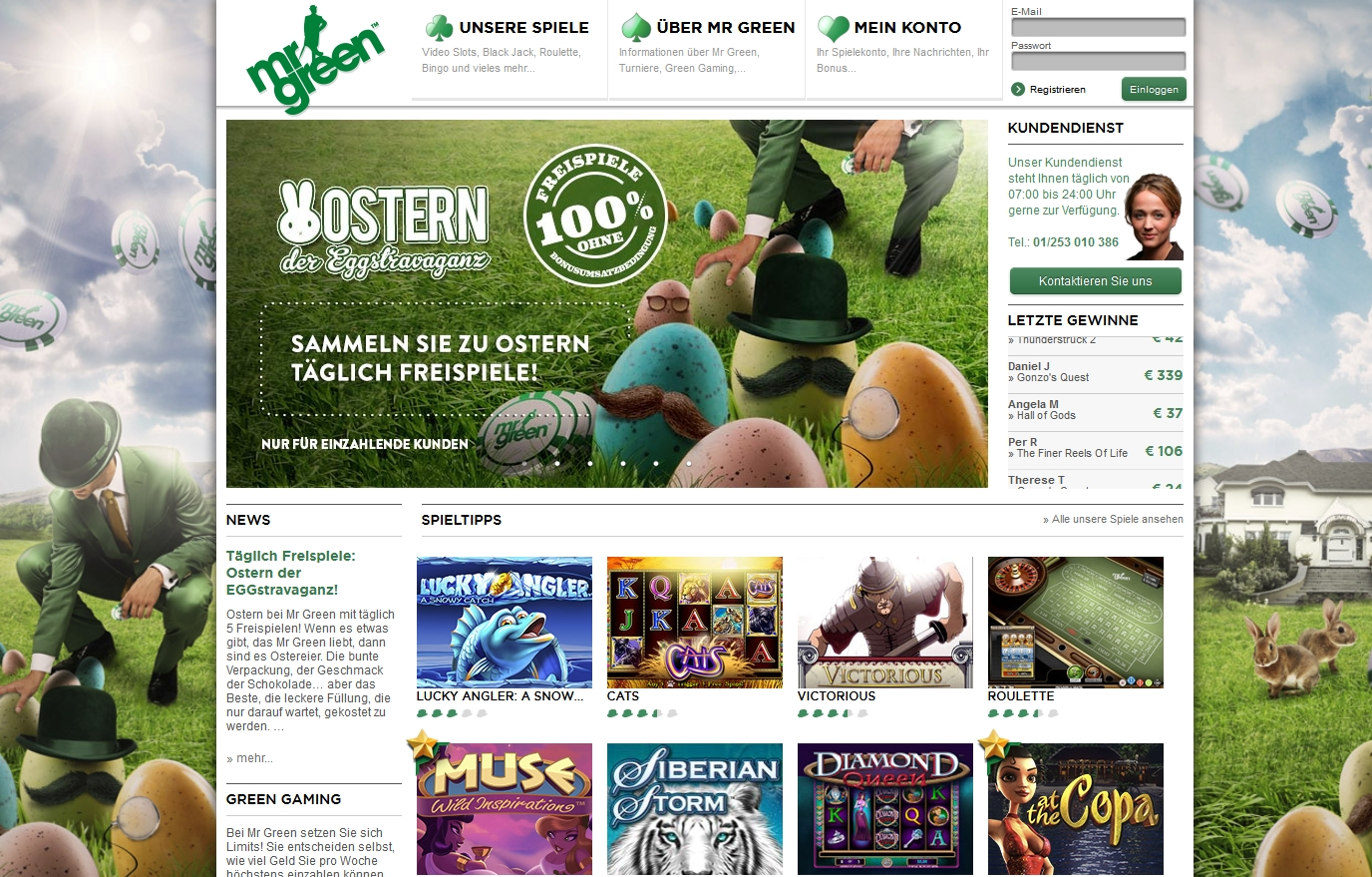 mr green casino forum
